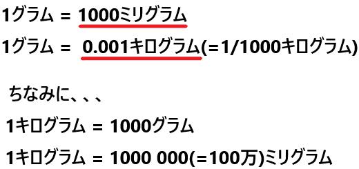 1 キロ 何 グラム グラムをキログラム単位変換 gをkg単位変換