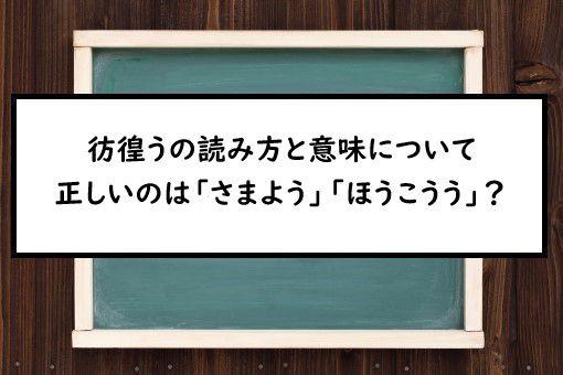 漢字 さまよう
